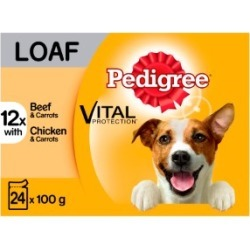 Pedigree Adult Dog Food Pouches Mixed Selection In Loaf 24X100G