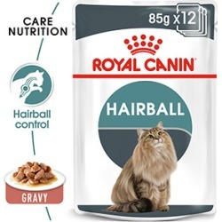 Royal Canin Feline Care Nutrition Hairball Adult Wet Cat Food In Gravy 12 X 85G found on Bargain Bro UK from Pets at Home