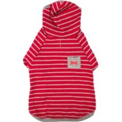 Wag-A-Tude Red Striped Dog Hoodie Xx Small