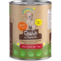 Step Up To Naturals Adult Dog Food Beef With Tripe 395G