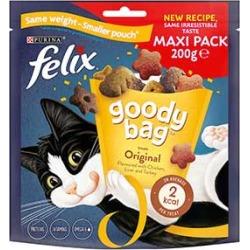 Felix Goody Bag Cat Treats Original Mix 200G found on Bargain Bro UK from Pets at Home