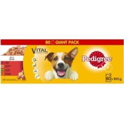 Pedigree Adult Dog Food Pouches Mixed Selection In Jelly 80X100G