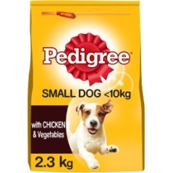Pedigree Adult Small Dog Complete Dry Dog Food With Chicken And Vegetables 2.3Kg