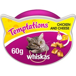 Whiskas Temptations Cat Treats With Chicken And Cheese 60G