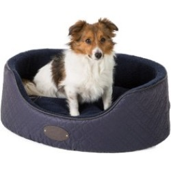 Wainwright's Quilted Oval Navy Dog Dog Bed Medium found on Bargain Bro UK from Pets at Home