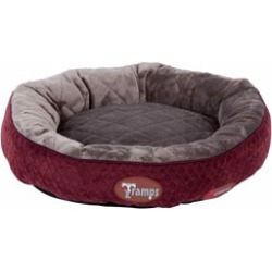 Tramps Luxury Thermal Self Heating Cat Ring Bed Burgundy found on Bargain Bro UK from Pets at Home