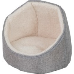 Pets At Home Linen Cat Hooded Bed Grey found on Bargain Bro UK from Pets at Home
