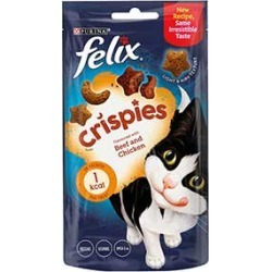 Felix Crispies Cat Treats Beef And Chicken 45G found on Bargain Bro UK from Pets at Home