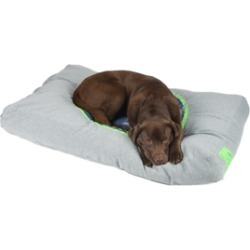 51Degreesnorth Sweater Style Box Pillow Fluoroescent Green Light Grey Large found on Bargain Bro UK from Pets at Home
