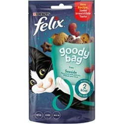 Felix Goody Bag Cat Treats Seaside Mix 60G found on Bargain Bro UK from Pets at Home