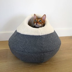 Rosewood 40 Winks Cosy Cave Cat Bed Grey found on Bargain Bro UK from Pets at Home