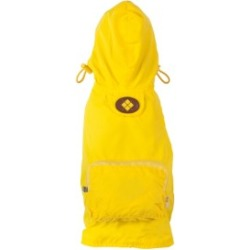 Fab Dog Packaway Dog Raincoat Small Yellow