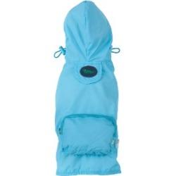 Fab Dog Packaway Dog Raincoat Medium Blue