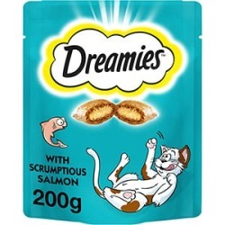 Dreamies Cat Treats With Salmon Mega Pack 200G found on Bargain Bro UK from Pets at Home