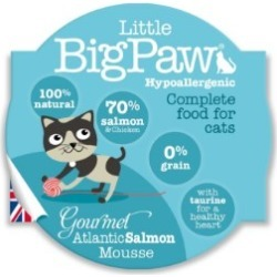 Little Bigpaw Gourmet Atlantic Salmon Mousse For Cats 85G found on Bargain Bro UK from Pets at Home