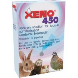 Xeno 450 Antiparasitic Spot On Tube Rabbits, Ferrets, Birds, Guinea Pigs 흭