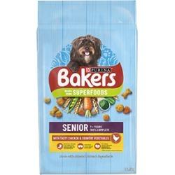 Bakers Senior Dry Dog Food Chicken And Veg 12.5Kg