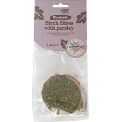 Woodlands Birch Slices With Parsley Small Animal Treat 2 Pack