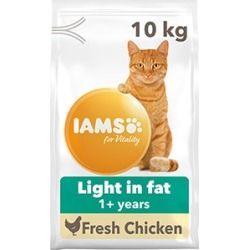 Iams For Vitality Cat Food Light In Fat With Fresh Chicken 10Kg