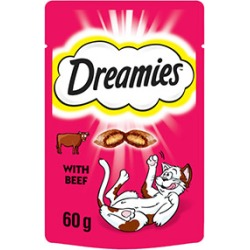 Dreamies Cat Treats With Beef 60G found on Bargain Bro UK from Pets at Home