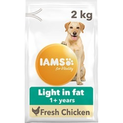 Iams For Vitality Dog Food Light In Fat With Fresh Chicken 2Kg