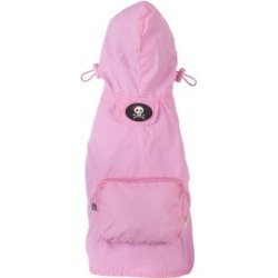Fab Dog Packaway Dog Raincoat Small Pink