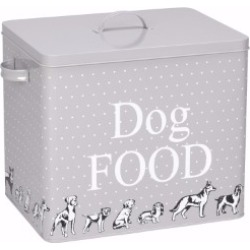 House Of Paws Polka Dot Print Dog Food Tin And Scoop Large