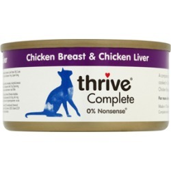 Thrive Complete Chicken And Liver Adult Cat Food 6X75G