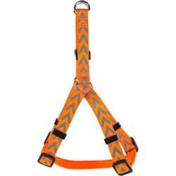 Dog Walk Reflective Chevron Dog Harness Orange