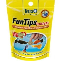 Tetra Fun Tips Adhesive Aquarium Fish Food 20 Tablets