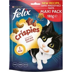 Felix Crispies Cat Treats Beef And Chicken 180G found on Bargain Bro UK from Pets at Home