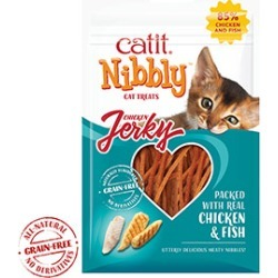 Catit Cat Treats Nibbly Jerky Chicken And Fish 30G found on Bargain Bro UK from Pets at Home