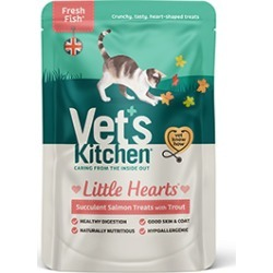 Vet's Kitchen Little Hearts Finest Salmon And Trout 60G found on Bargain Bro UK from Pets at Home