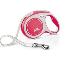Flexi Extending Dog Lead New Comfort Tape 5M Red Large found on Bargain Bro UK from Pets at Home