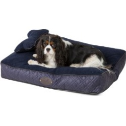 Wainwright's Quilted Mattress Dog Bed With Bone Pillow Navy Medium found on Bargain Bro UK from Pets at Home
