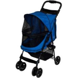Pet Gear Happy Trails No-Zip Blue Dog Stroller