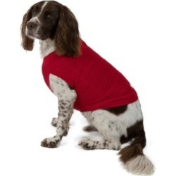 Wag-A-Tude Red Check Large Dog Sweater