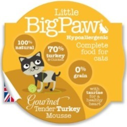 Little Bigpaw Gourmet Tender Turkey Mousse For Cats 85G