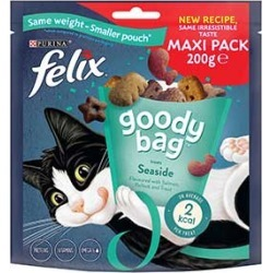 Felix Goody Bag Cat Treats Seaside Mix 200G found on Bargain Bro UK from Pets at Home