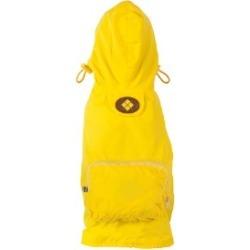 Fab Dog Packaway Dog Raincoat Yellow Large
