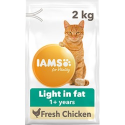 Iams For Vitality Cat Food Light In Fat With Fresh Chicken 2Kg
