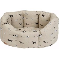 Sophie Allport Woof Dog Bed Beige Small found on Bargain Bro UK from Pets at Home