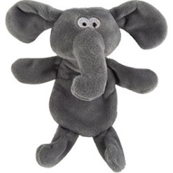Pets At Home Elephant Flattie Crackle And Squeak Dog Toy Mini
