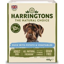 Harringtons Adult Grain Free Wet Duck And Potatoes With Veg Dog Food 400G