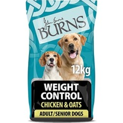 Burns Weight Control Adult And Senior Dry Dog Food Chicken And Oats 12Kg