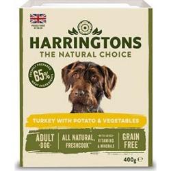 Harringtons Adult Grain Free Wet Turkey And Potatoes With Veg Dog Food 400G