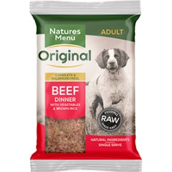 Natures Menu Frozen Beef Dinner Complete Dog Food 12 X 300G (Special Delivery)