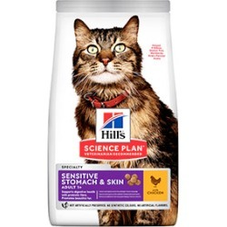 Hill's Science Plan Dry Adult Sensitive Stomach And Skin Cat Food 300G