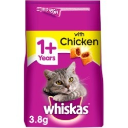 Whiskas 1 Adult Complete Dry Cat Food With Chicken 3.8Kg