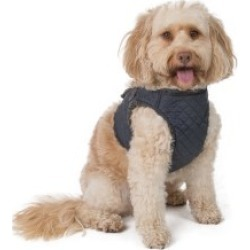 Wag-A-Tude Grey Quilted Large Dog Harness